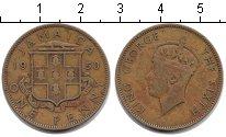 Изображение Монеты Ямайка 1 пенни 1950  VF