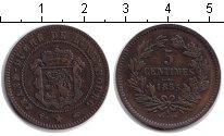 Изображение Монеты Люксембург 5 сантимов 1855 Медь XF