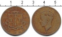 Изображение Монеты Ямайка 1 пенни 1942