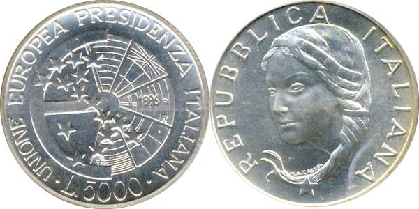 Картинка Подарочные наборы Италия Президиум Италии в Евросоюзе Серебро 1996