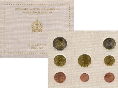 Изображение Подарочные монеты Ватикан SEDE VACANTE 2005 2005  UNC Набор, выпущенный по