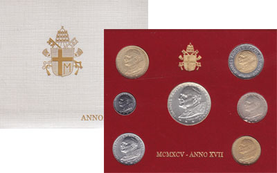 Изображение Подарочные наборы Ватикан Выпуск 1995 года 1995   Регулярный выпуск 19