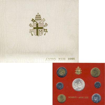 Изображение Подарочные наборы Ватикан Выпуск 1991 года 1991   Регулярный выпуск 19