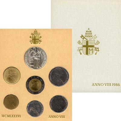 Изображение Подарочные монеты Ватикан Выпуск 1986 года 1986