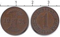 Изображение Монеты Веймарская республика 1 пфенниг 1935 Медь XF F