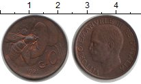 Изображение Монеты Италия 10 сентесим 1921 Медь XF Витторио Имануил III