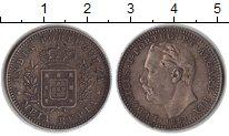 Изображение Монеты Португальская Индия 1/2 рупии 1881 Серебро XF