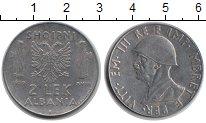 Изображение Монеты Албания 2 лека 1939 Медно-никель XF Витторио Имануил III