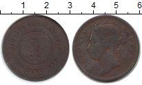 Изображение Монеты Стрейтс-Сеттльмент 1 цент 1878 Медь VF Виктория