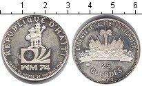 Изображение Монеты Гаити 25 гурдес 1973 Серебро XF
