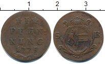 Изображение Монеты Зальцбург 1 пфенниг 1775 Медь XF