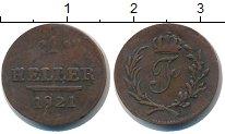 Изображение Монеты Саксония 1 хеллер 1820 Медь
