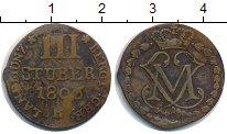Изображение Монеты Берг 3 стюбера 1806 Медь VF