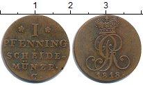 Изображение Монеты Ганновер 1 пфенниг 1818 Медь VF С