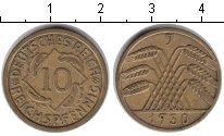 Изображение Монеты Веймарская республика 10 пфеннигов 1930 Медь XF