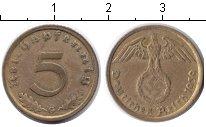 Изображение Монеты Третий Рейх 5 пфеннигов 1939 Медь XF G