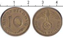 Изображение Монеты Третий Рейх 10 пфеннигов 1939 Медь XF