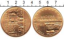 Изображение Монеты Финляндия 10 евро 2003 Серебро UNC- Андерс Chydenius