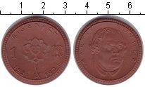 Изображение Монеты Саксония 1 марка 1921 Керамика XF Мартин Лютер. Эйзена