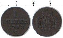 Изображение Монеты Саксония 1 хеллер 1783 Медь VF