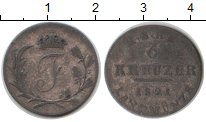 Изображение Монеты Саксен-Хильдбургхаузен 6 крейцеров 1821 Серебро