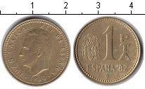 Изображение Барахолка Испания 1 песета 1980  XF Хуан Карлос 1