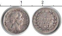 Изображение Монеты Нидерланды 5 центов 1850 Серебро XF
