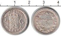 Изображение Монеты Нидерландская Индия 1/4 гульдена 1919 Серебро XF