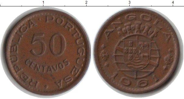Картинка Монеты Ангола 50 сентаво Медь 1961