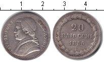Изображение Монеты Ватикан 20 байочи 1850 Серебро XF