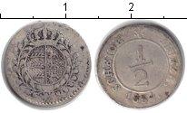 Изображение Монеты Вюртемберг 1/2 крейцера 1834 Серебро VF
