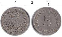 Изображение Монеты Германия 5 пфеннигов 1897 Медно-никель XF