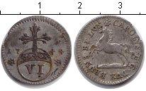 Изображение Монеты Брауншвайг-Вольфенбюттель 1/6 талера 1744 Серебро VF