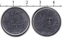 Изображение Дешевые монеты Бразилия 10 сентаво 1997 Медно-никель VF