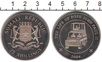 Изображение Монеты Сомали 25 шиллингов 2004 Медно-никель Proof