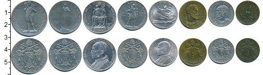 Изображение Наборы монет Ватикан Ватикан 1939 1939  XF В наборе 8 монет ном