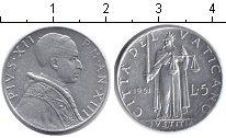 Изображение Монеты Ватикан 5 лир 1951 Алюминий UNC- Пий XII.