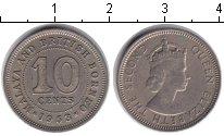 Изображение Монеты Малайя 10 центов 1953 Медно-никель XF