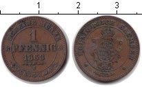 Изображение Монеты Саксония 1 пфенниг 1863 Медь XF B