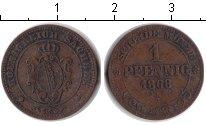 Изображение Монеты Саксония 1 пфенниг 1868 Медь VF