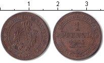 Изображение Монеты Саксония 1 пфенниг 1863 Медь VF
