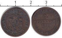 Изображение Монеты Саксония 2 пфеннига 1862 Медь VF