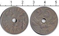 Изображение Монеты Испания 25 сентимо 1927 Медно-никель
