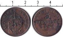Изображение Монеты Пруссия 3 пфеннига 1868 Медь