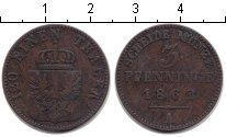 Изображение Монеты Пруссия 3 пфеннига 1862 Медь