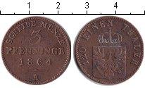 Изображение Монеты Пруссия 3 пфеннига 1864 Медь