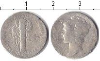 Изображение Монеты США 1 дайм 0 Серебро