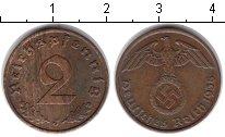 Изображение Монеты Третий Рейх 2 пфеннига 1938 Медь VF