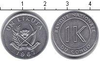 Изображение Монеты Конго 1 ликута 1967 Алюминий UNC-