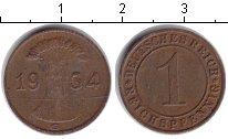 Изображение Монеты Веймарская республика 1 пфенниг 1934 Медь  G.